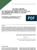 Analisis de Manuales a Traves Del Tratamiento Didactico Dado Al Concepto de Limite de Una Funcion Una Perspectiva Desde La Nocion de Obstaculo Espistemologico