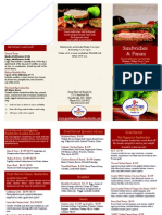 Trifold Menu for Sandwiches