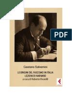 Gaetano Salvemini - Le Origini Del Fascismo in Italia, Lezioni Di Harward
