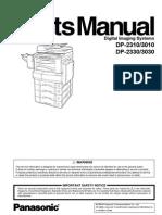 Panasonic Dp2310 3010Parts Manual