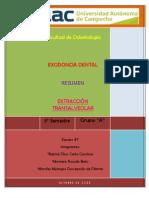 EXTRACCIÓN TRANSALVEOLAR - Resumen