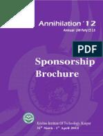 Annihilation Sponsorship Brochure