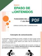 COMUNICACIÓN Y FUNCIONES  Repaso 1° Medio