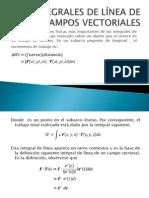 INTEGRALES DE LÍNEA DE CAMPOS VECTORIALES