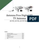 Antenna Ax903 909manual