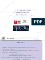 History of Computer Vision a Personal Perspective
