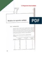 1.5 Regresión lineal multiple