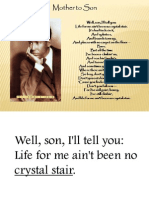 Mother to Son Langston Hughes