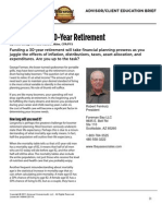 Robert Feinholz - Planning for a 30 Year Retirement