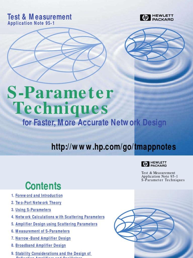 S Parameters An 95 1 Electronics Force Mc145170 Pll Fm Transmitter