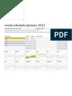 Template - Event Schedule Planner 2012
