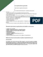 Especificaciones para el DIBUJO Y PRESENTACIÓN DE DETALLES DE ARQUITECTURA
