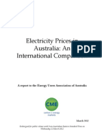 International power prices study commissioned by Energy Users Association