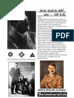 20 abril - 118 años del nacimiento de Adolfo Hitler