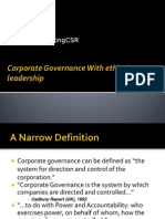 Corporate Governance With Ethical Leadership