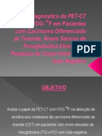 Valor Diagnóstico da PET-CT com FDG-18F