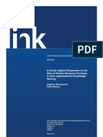 A Social Capital Perspective on the Role of Human Resource Practice in Intra-Organisational Knowlege Sharing 2004
