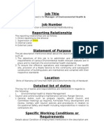 Job Description in 2 Pages