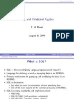Lecture 03 Intro SQL Relational Algebra