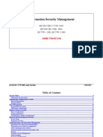 ISO 17799 2005.Audit Checklist