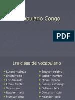 Vocabulario Congo PPT