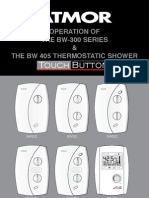 Electric Shower 196025 BW300 405 Manual Eng Rv14