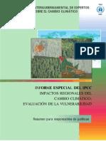 Vulnerabilidad Por Regiones IPCC