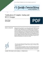 Verification of Complex Analog ICs