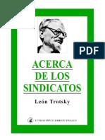 Acerca de Los Sindicatos - L. Trotsky