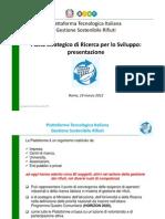 Piano Strategico di Ricerca - Gestione Sostenibile Rifiuti