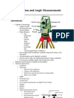 Total Station and Angle Measurements