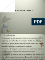 Lecture 8 Expectorants and Emetics, Introduction