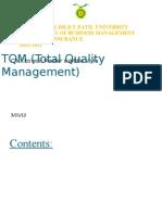 Tatal Quality Managment