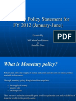 Bangladesh Bank Monetary Policy for FY 2012 (2)