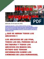 Noticias Uruguayas miércoles 21 de marzo de 2012
