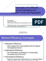 The Essentials of an Efficient Market - Final