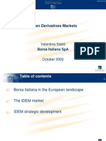 Italian Derivatives Markets(Borsa Italiana,2002)