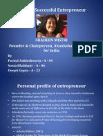 Entrepreneurship Project - Successful Entrepreneur