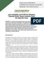 E. Fernandez-Macias - Job Instability and Political Attitudes Towards Work