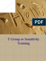 T Group or Sensitivity Training (1)