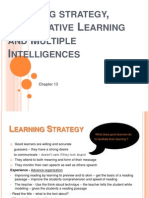 Learning Strategy, Cooperative Learning and Multiple Intelligences