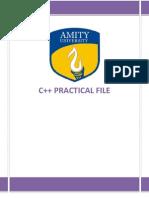 c++ Practical File