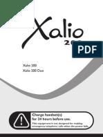 Cordless Philips Xalio 200 MANUALE