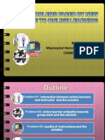 The Problems Faced by New Comers to Online Learners by Mayizayatul Hezren Binti Kamaruddin Cgs00553926