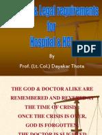 Laws on Hospital - Prof Dayakar Thota - Good