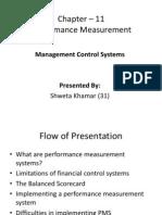 management control systems - performance measurement