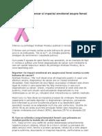 Diagnosticul de Cancer Si Impactul Emotional Asupra Femeii