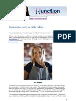 Lisa Goldberg speaks to Odile Faludi for J-Junction on 'Cooking for Love'