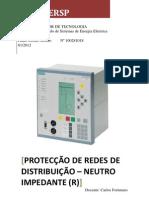PROTECÇÃO DE REDES DE DISTRIBUIÇÃO  DE ENERGIA