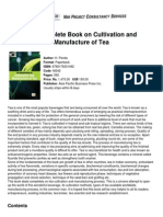 The Complete Book on Cultivation and Manufacture of Tea